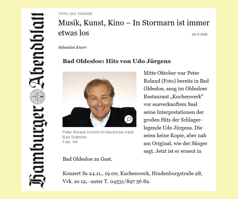 Peter Roland Hamburger Abendblatt