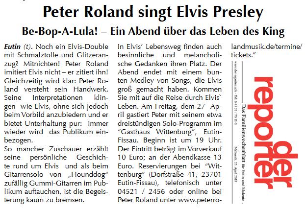 Der Reporter Eutin Gasthaus Wittenburg