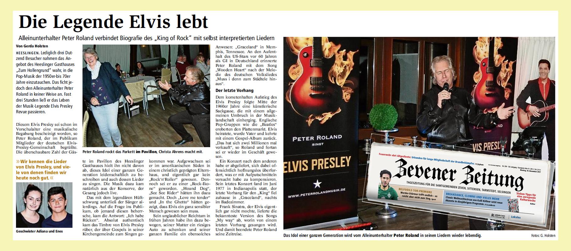 Artikel Zevener Zeitung 2018-11-05