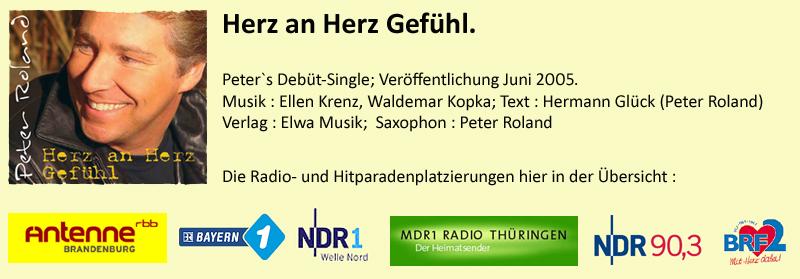 """Peter Roland """"Herz an Herz Gefühl"""""""