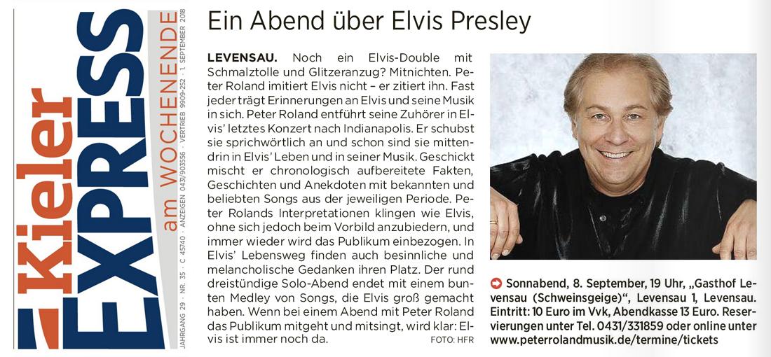 Peter Roland singt Elvis Presley - Kieler Express