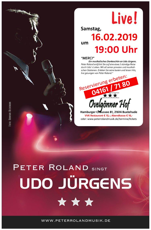 Peter Roland singt Udo Jürgens live im Övelgönner Hof