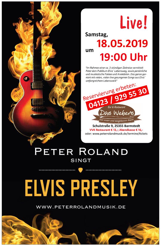 Peter Roland singt Elvis Presley in Das Webers, Barmstedt