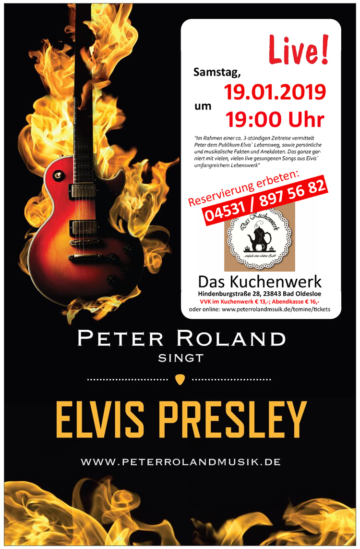 Peter Rolands singt Elvis Presley live im Kuchenwerk