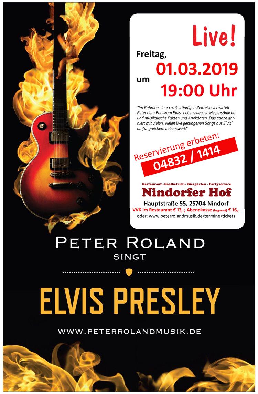 Peter Roland singt Elvis Prelsey live im Nindorfer Hof