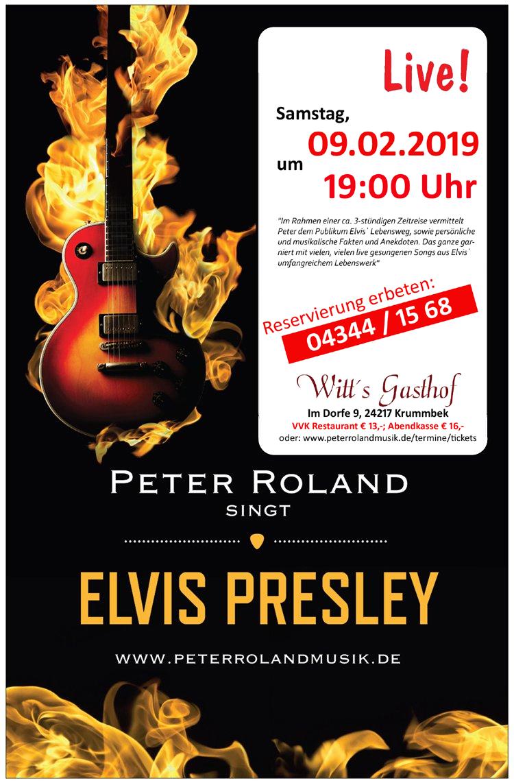 Peter Roland singt Elvis Prelsey live in Witt`s Gasthof