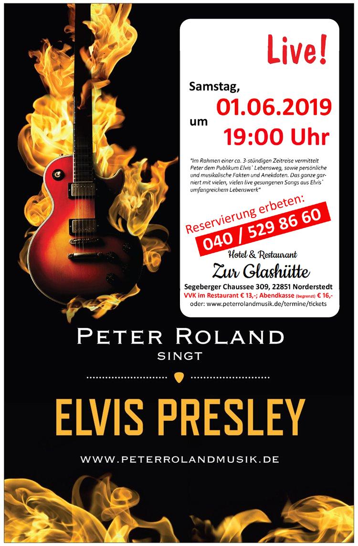 Peter Roland singt Elvis Presley live im Hotel Zur Glashütte