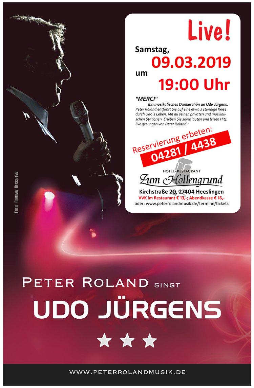 Peter Roland singt Udo Jürgens live im Restaurant Zum Hollengrund