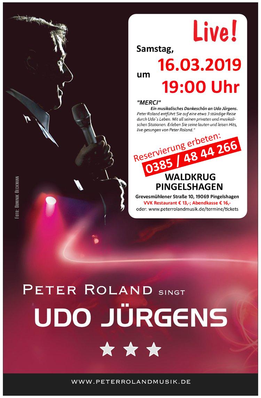 Peter Roland singt Udo Jürgens live in Pingelshagen bei Schwerin