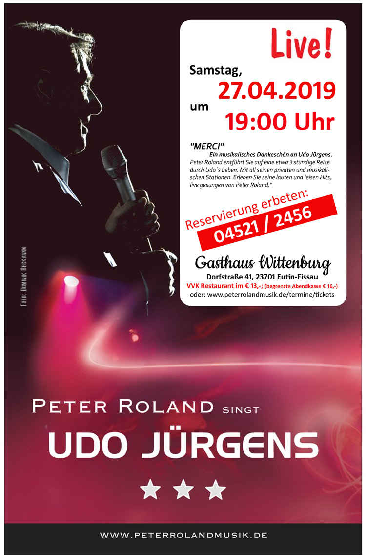 Peter Roland singt Udo Jürgens live im Gasthaus Wittenburg