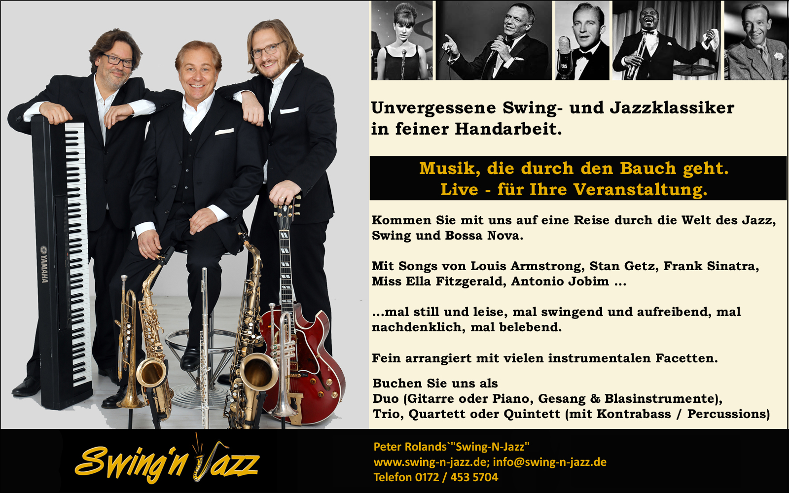 Trio Swing-N-Jazz. Kai Beller, Peter Roland, Philipp Straske.