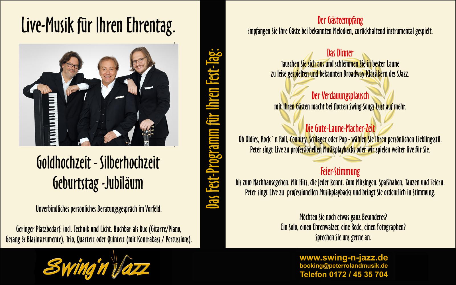 Peter Roland`s Swing-N-Jazz. Goldhochzeit.