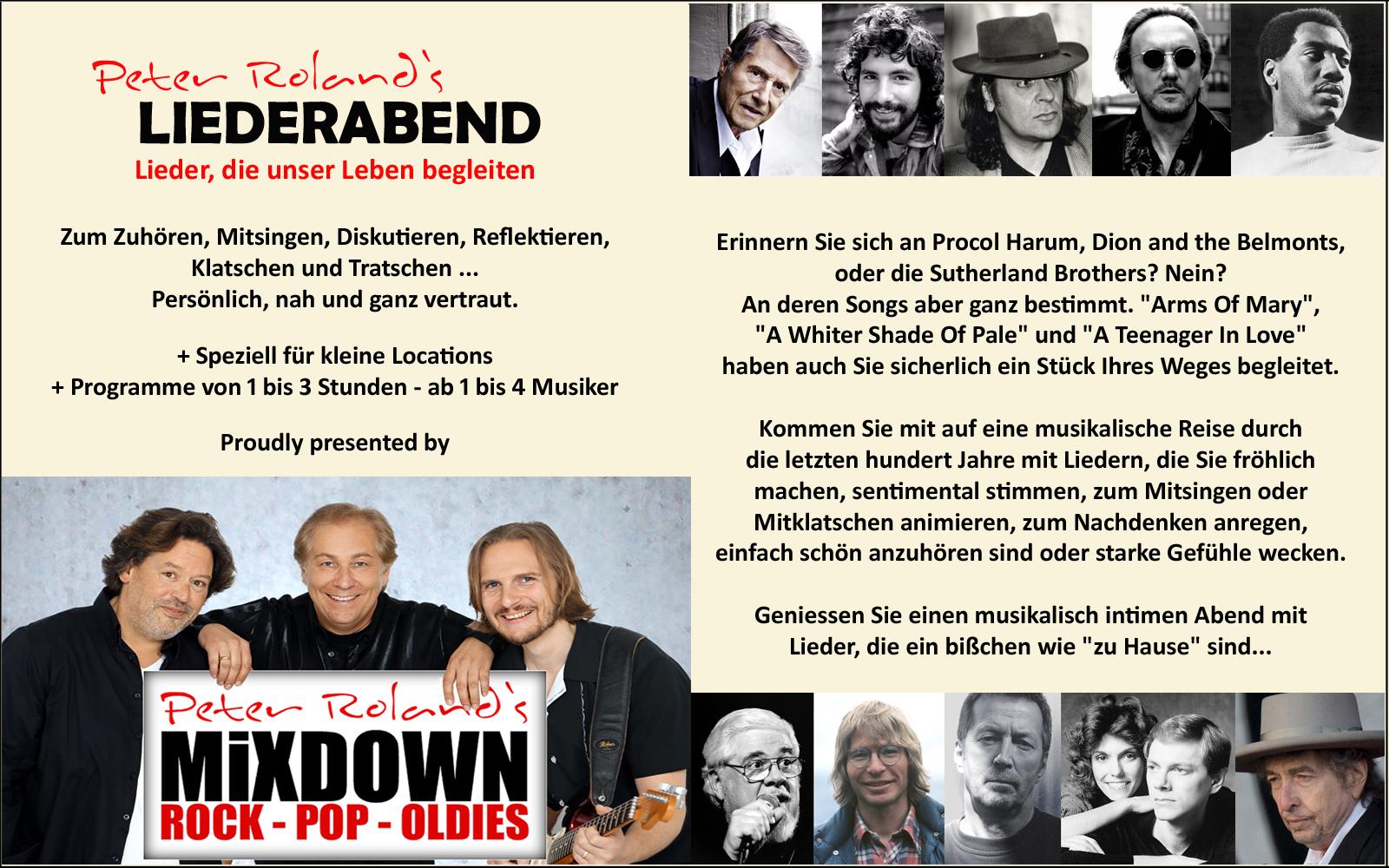 Liederabend Peter Roland`s Mixdown