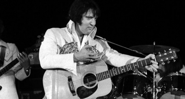 Elvis on stage 1977