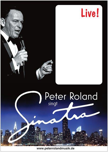 Plakat Peter Roland singt Sinatra