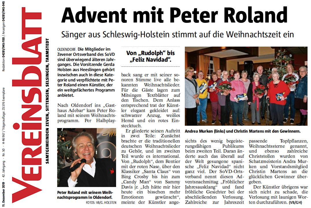 Advent mit Peter Roland in Zeven-Oldendorf